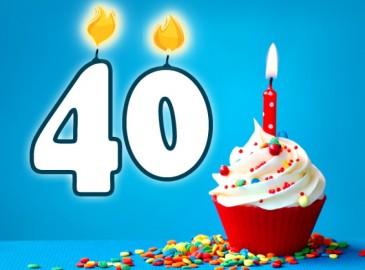 Beroemd 40 jaar verjaardag | Origineelste tips en de uniekste cadeaus &VZ57